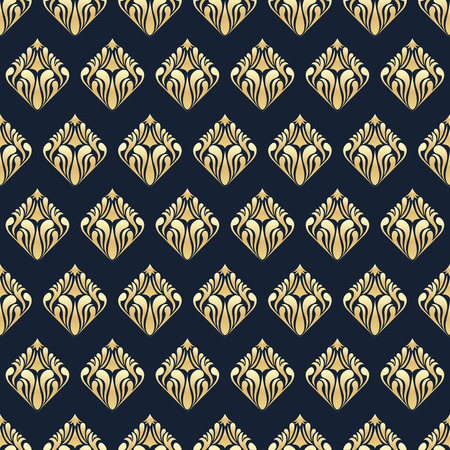 Decorative golden luxury seamless pattern
