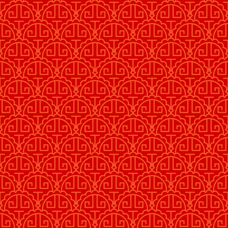 Chinese art style red seamless pattern design