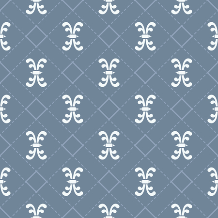 Retro style decorative seamless pattern design