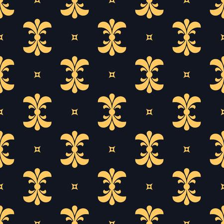 Golden decorative luxury seamless pattern