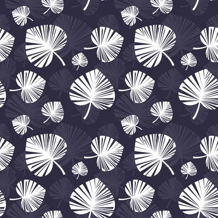 Heart shape leaves seamless pattern