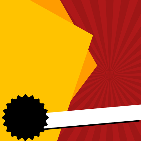 Blank red and yellow square banner