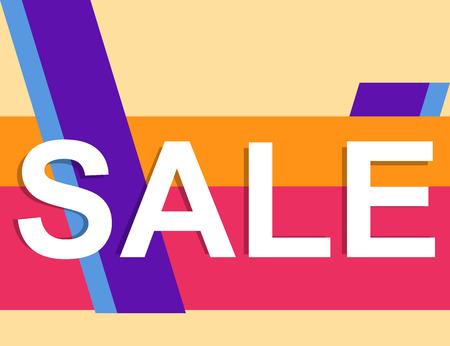 Retro style colorful sale banner