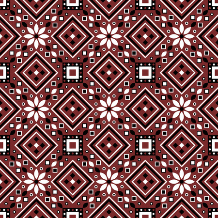 Indus culture themed geometric seamless pattern