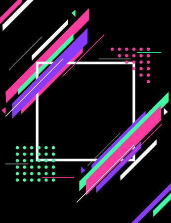 Abstract colorful geometric shapes futuristic backgroud