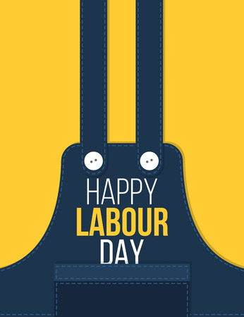 Labour day poster background in yellow and blue