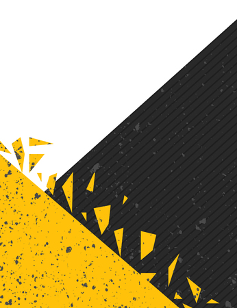 Black and yellow grunge poster layout Illustration