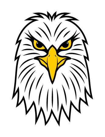 American eagle head front view Ilustração