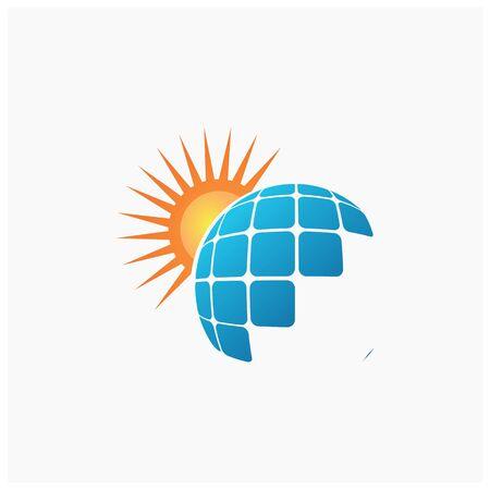 Solar Panel Logo Template Design Vector