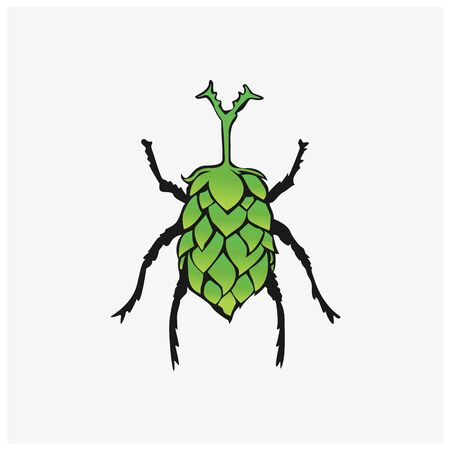 Illustration of Stag beetle  vector inspiration.  イラスト・ベクター素材
