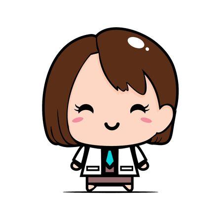 Vector of cute female doctor design