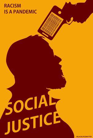 Black Lives Matter Poster design vector