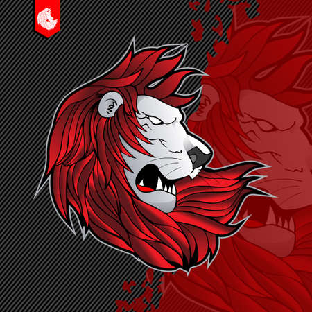 The Great Lion Design E-sport Logo Template Illustration