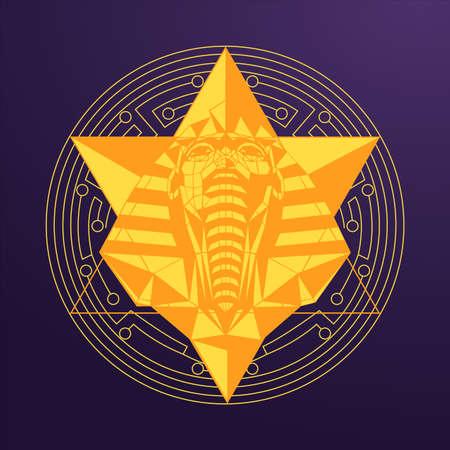 The great sphinx gold design Illustration