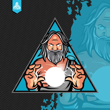 Zeus Control the Bolt Ball Logo Design Template