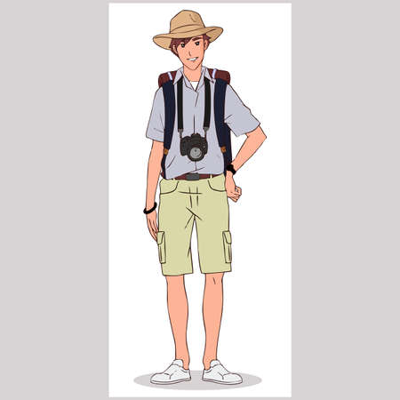 The Photographer Character Design Vector