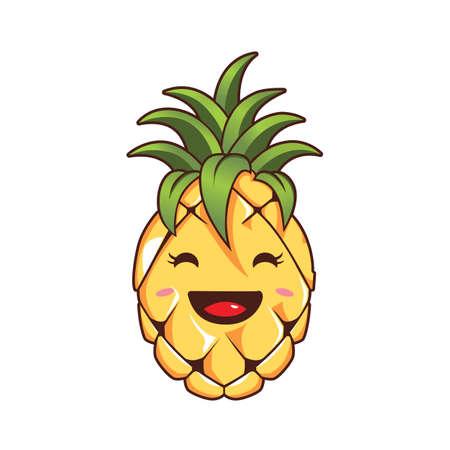 Cute Pineapple Mascot Character design 向量圖像