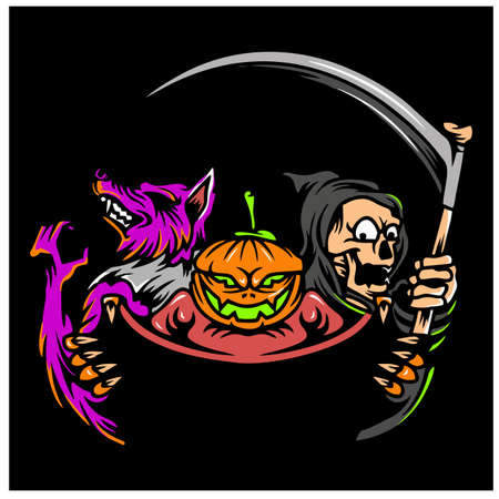 Halloween Monster Design Character vector Vectores