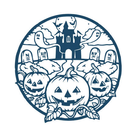Halloween Pumpkin Party Design Vector