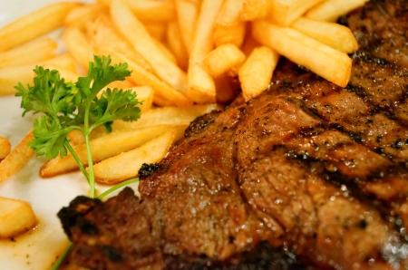 steak and potato fries