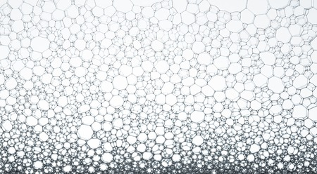 Geometric cells formed by soap bubbles and water, for background or texture