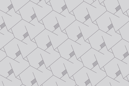 Abstract boxes background. Modern technology with square mesh. Geometric on white background with lines. Cube cell. Vector illustration