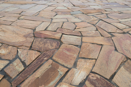 Background from natural stone slabs of various shapes in perspective Imagens