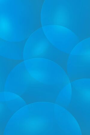 Background from abstract blue circles or balls similar to flickering lights in defocus