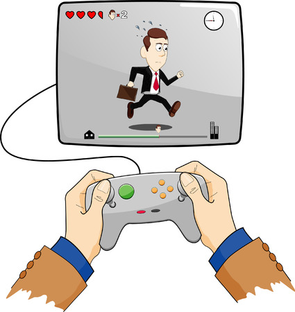 企業のゲーム  イラスト・ベクター素材