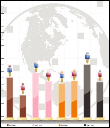 조정 가능한 벡터 인구 통계 차트 일러스트