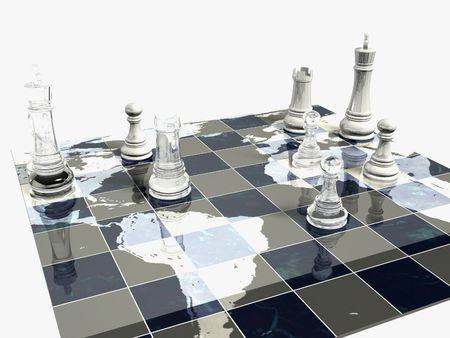 Political Chess Game Stock Photo