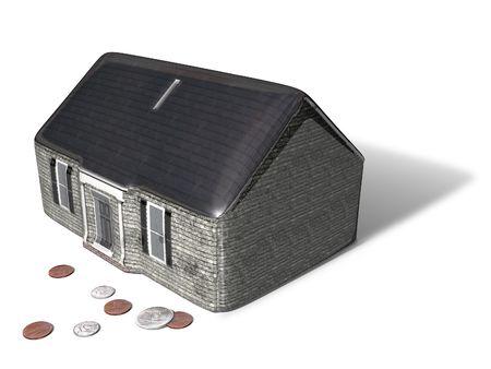 House piggy bank. Equity. photo