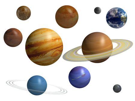Planets Reklamní fotografie