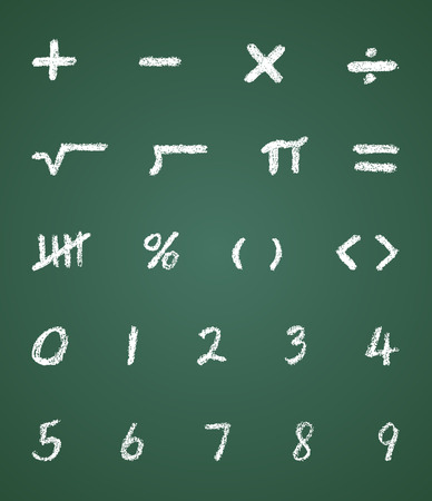 Chalk Vector Math Symbols and Numbers Vector