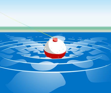 metafoor: Cork bobing in water. Marketing metafoor.