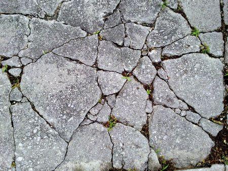 Old, cracked concrete ground.