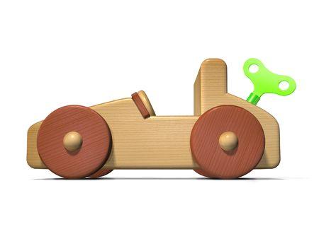 Energía verde automóviles concepto utilizando un coche de juguete girando. Foto de archivo - 5549221