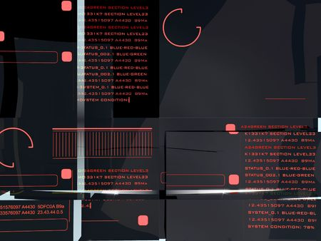 ガラスの層の背後にある技術が表示されます。