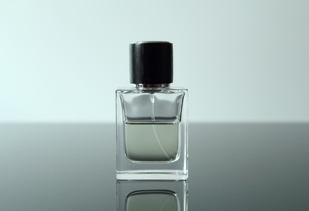 unmarked: Unmarked front view of a glass cologne bottle.