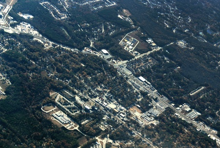 industrialized: Aerial photo of an industrialized area in Georgia. Stock Photo