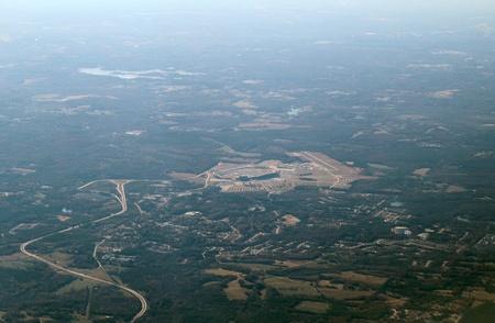 developed: Vista a�rea de la zona urbanizada en Georgia, EE.UU.. Foto de archivo
