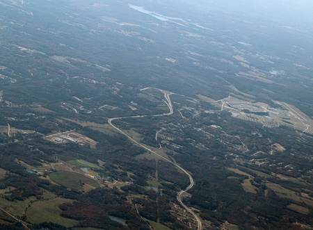 developed: Aerial view of a developed area in south Georgia. Stock Photo