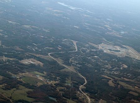 developed: Vista a�rea de una zona desarrollada en el sur de Georgia.