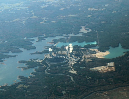 Aerial view of a nuclear power plant in Georgia, USA. photo