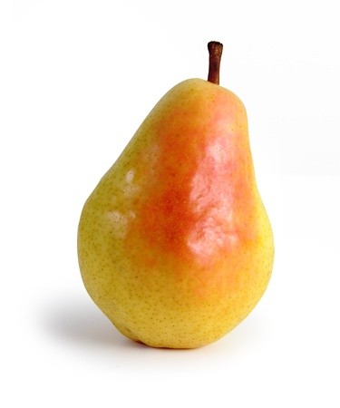 fruit: Isolated pear fruit with shadow.