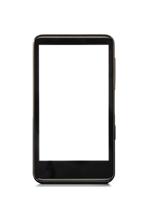 blank screen: Blank screen smart phone with shadow on white.