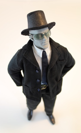 High angle view of an anatomical manikin dressed in business attire. Stock fotó