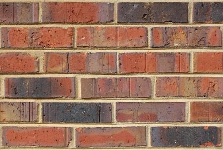 Running bond red brick and mortar texture bacground. Stok Fotoğraf