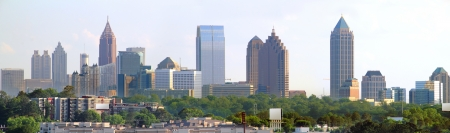 atlanta: Panoramic of downtown Atlanta Georgia Stock Photo