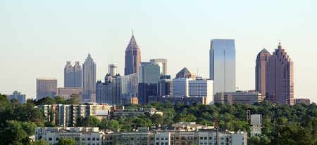 Wide angle shot of downtown Atlanta Georgia. Stock Photo - 13582680